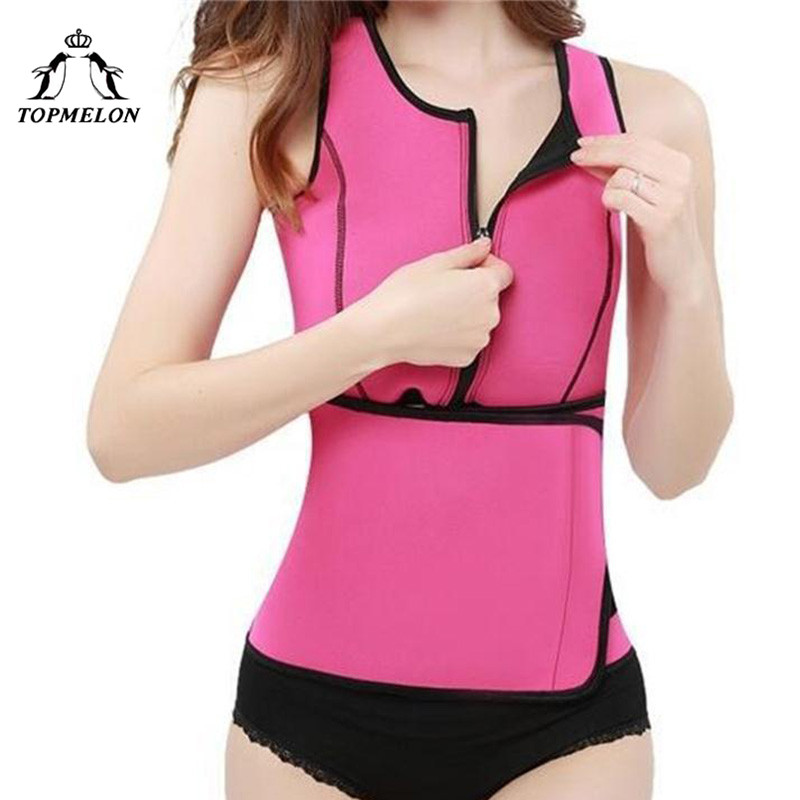 TOPMELON Neoprene Waist Trainer  Belly Slimming Belt Sheath Shapewear Modeling Strap Corset Tops Sweat Body Shaper Sauna Suit