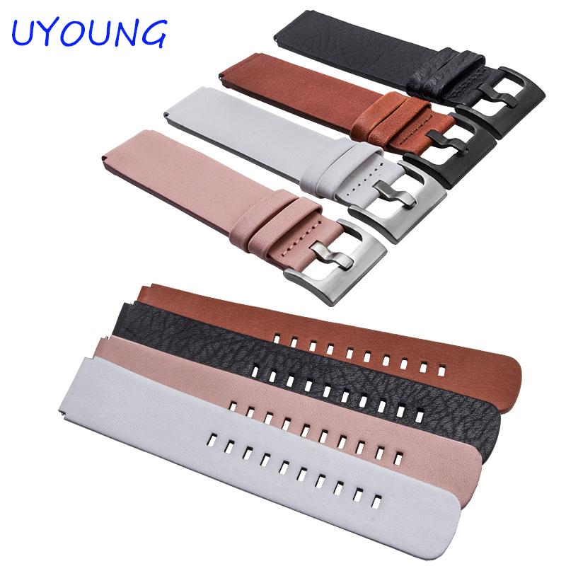Quality Italy soft leather watchband For Huawei Watch bands Mens Smart Watch accessories