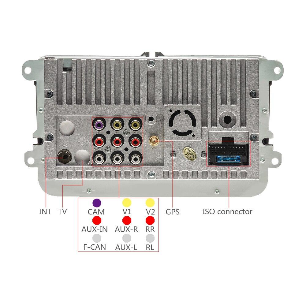 Lecteur multimédia de voiture Camecho deux Din autoradio DVD GPS Auto Radio stéréo pour Skoda/Seat/Volkswagen/VW/Passat b7/POLO/GOLF 5 6 - 4