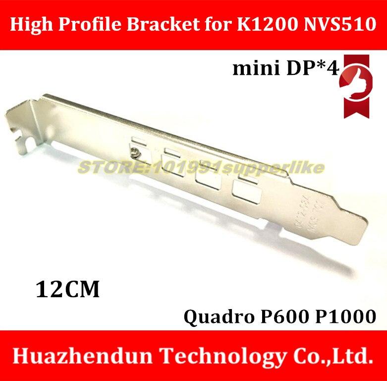 DEBROGLIE K1200 Full High Profile Bracket For NVIDIA QUADRO K1200 NVS510 P600 P1000 Graphics Card With Mini DP Slot  And Screw