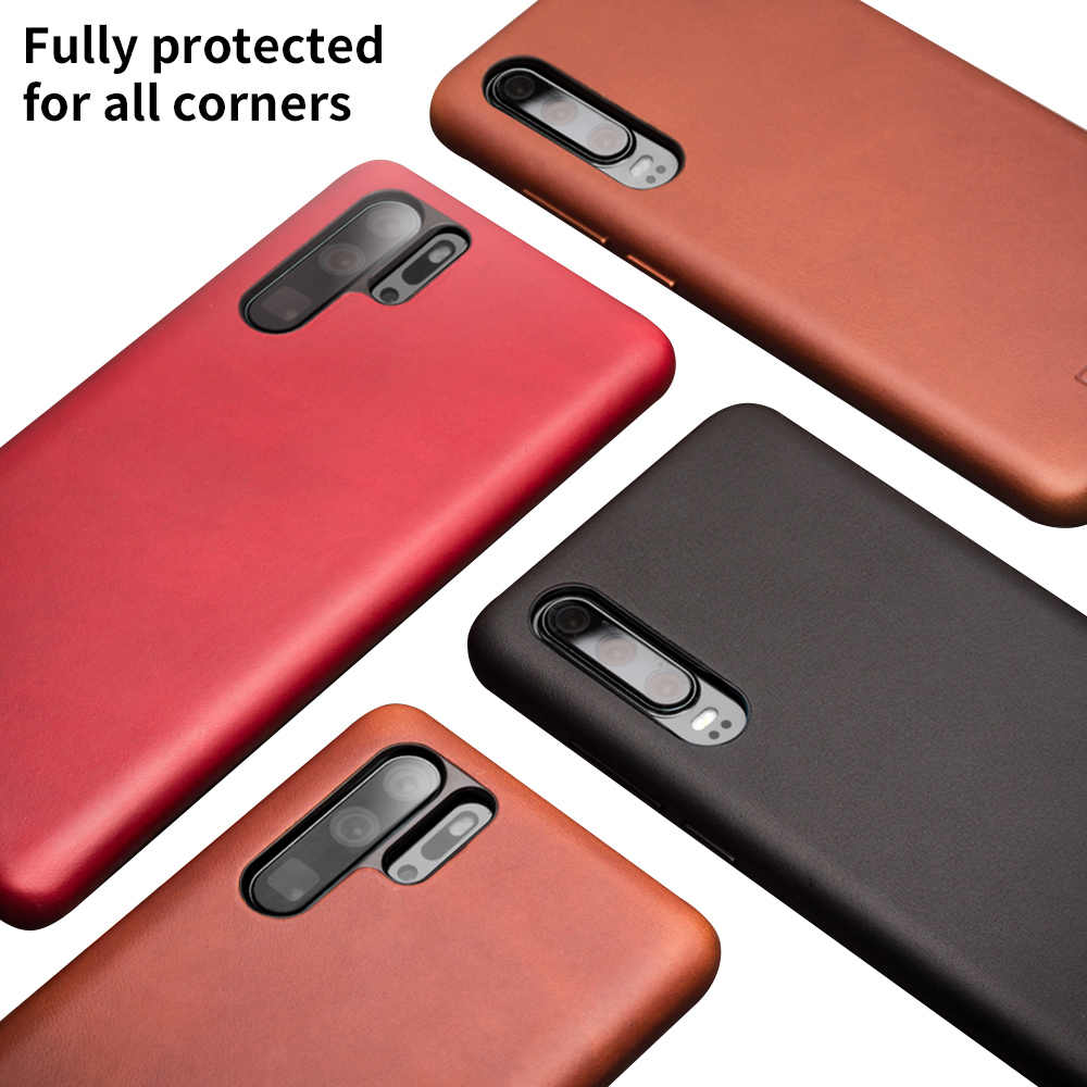 Qialino модный Ультратонкий чехол из натуральной кожи для телефона huawei P30 Pro 6,47 дюймов роскошный чехол ручной работы для huawei P30