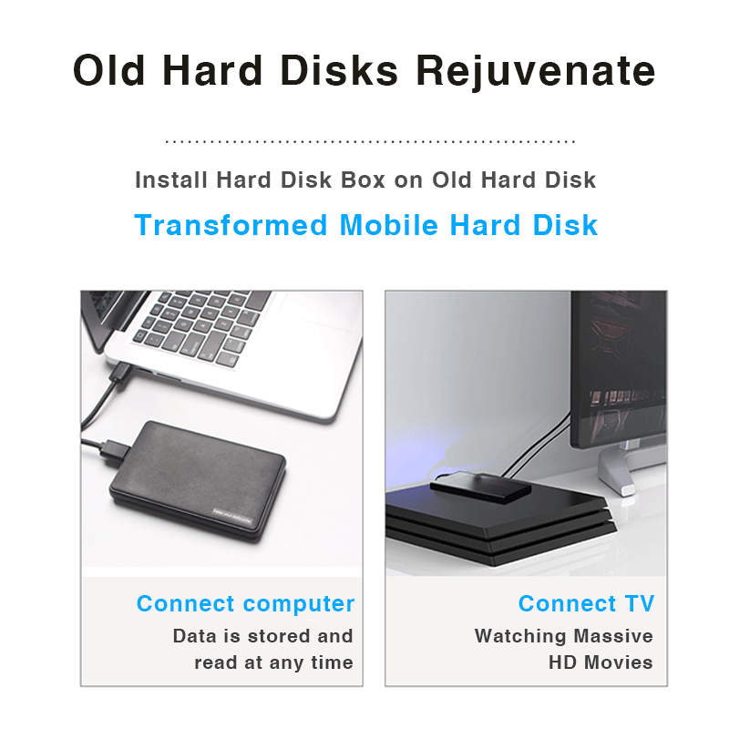 """Image 3 - Hard Drive Enclosure, Portable HDD Box SATA to USB 3.0 Adapter  for  2.5"""" External SSD HDD Case-in Computer Cables & Connectors from Computer & Office"""