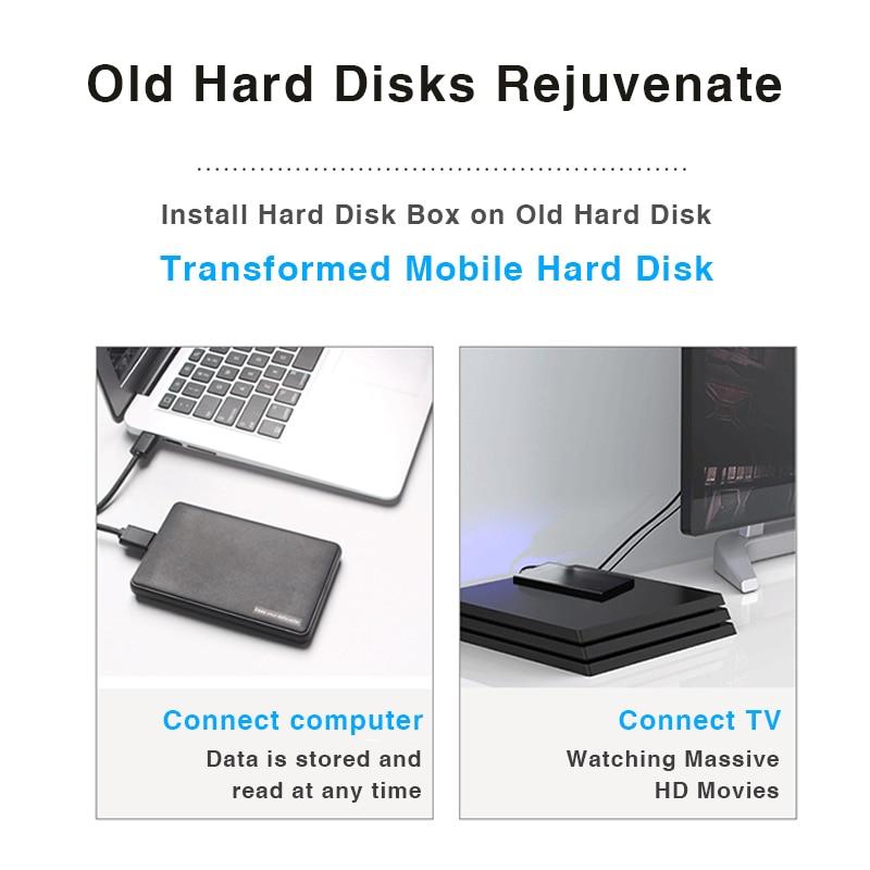 "Portable HDD Box 2.5"" SATA to USB 3.0 Adapter Hard Drive Enclosure for  2.5"" External SSD HD Case"