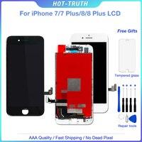 OEM полный монтажный ЖК-экран для iPhone 7, 7plus 8 8 Plus дисплей сенсорный экран дигитайзер lcd Замена + закаленное стекло AAA