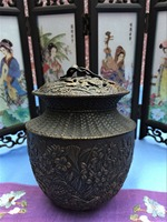 Antique Copper Hollow Incense Burner Small And Thick Incense Burner Holder With Gift Box