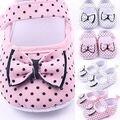 Adorável Recém-nascidos Sapatilhas Sapatos Berço Do Bebê Da Princesa Meninas Infantil Criança Suave Sole Primeiros Walkers