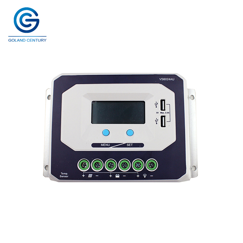 Brand New VS6024AU CE ROHS LCD 60A AMP 12V 24V Volt PWM Solar Battery Charge Controller with LCD Display 5V DC Output USB PortBrand New VS6024AU CE ROHS LCD 60A AMP 12V 24V Volt PWM Solar Battery Charge Controller with LCD Display 5V DC Output USB Port
