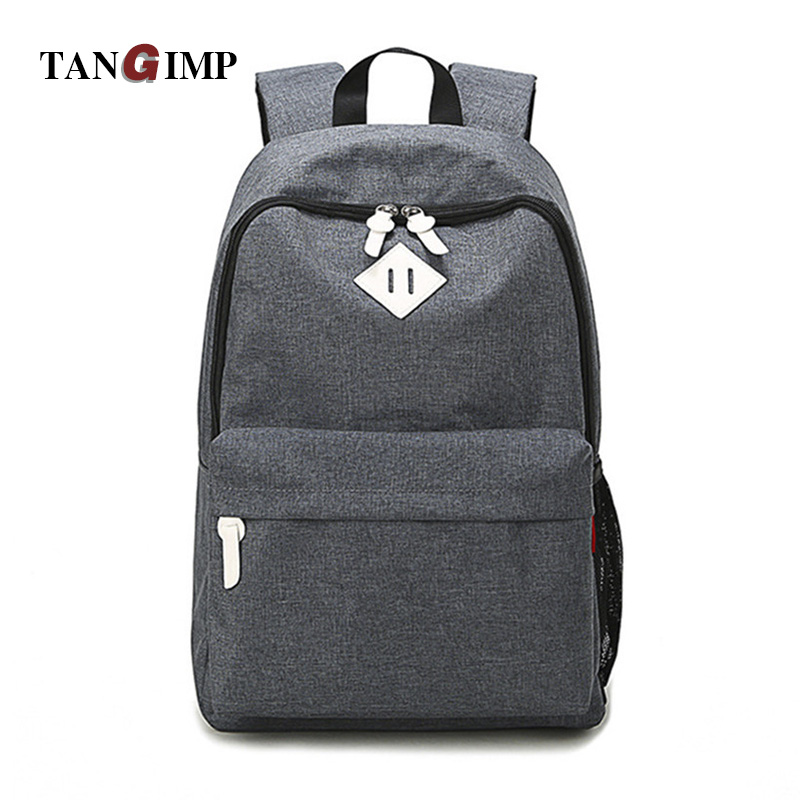 TANGIMP Luggage&Bags Women Men Canvas Backpacks Schoolbags for Girls Boys Teenagers Casual Travel Laptop Bags Rucksack mochila tangimp 3 size camouflage kid cool backpack school bags unisex travel mochila escolar backpacks bags for boys girls teenager