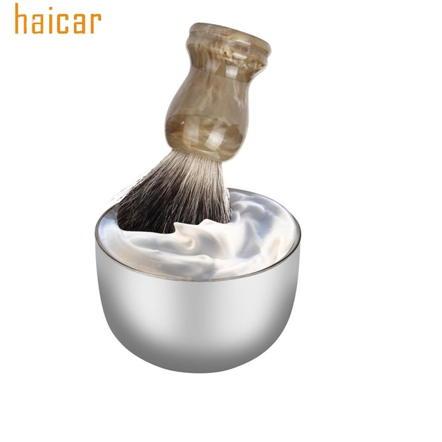HAICAR Love Beauty Female  Mens High Quality Stainless Steel Silver Bowl Cup For Shave Brush Drop Shipping 180314 drop ship