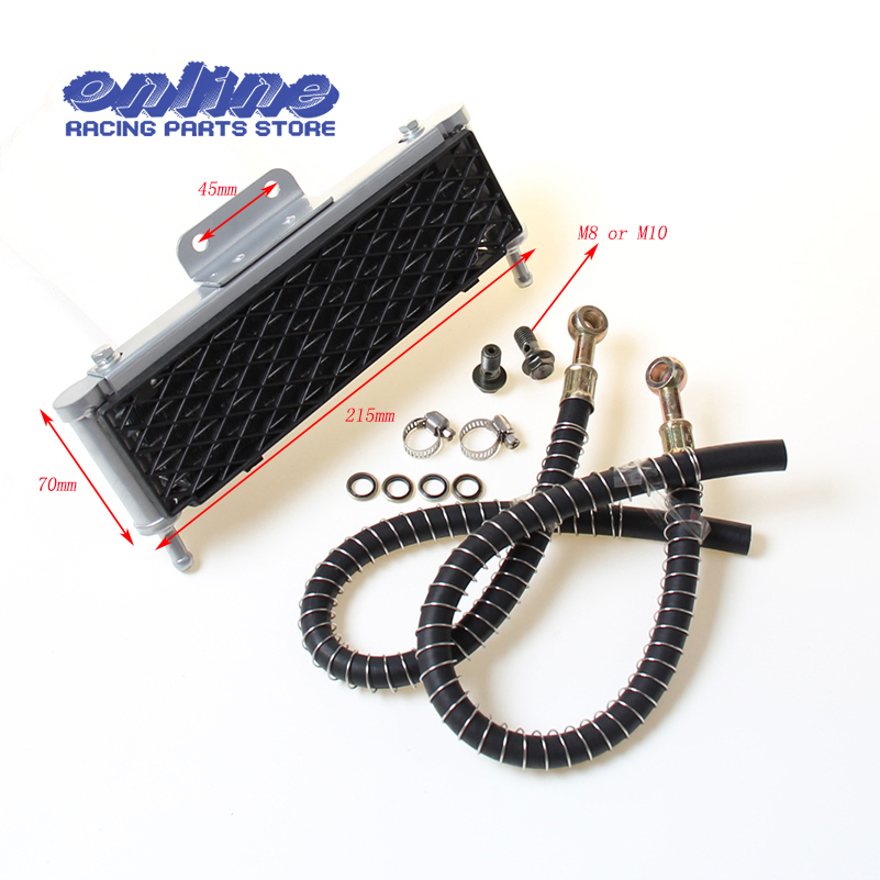 High performance Oil Cooler radiator Dirt Pit Bike Monkey Motorcyle cooling parts M8 or M10 for Kayo BSE 110cc 125cc 140cc zongshen lifan 140cc 150cc monkey refires off road motorcycle aluminum alloy oil cooler radiator 125cc dirt pit monkey bike atv