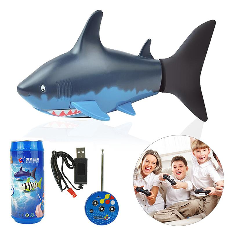 Image 3 - Remote Control Mini Shark Submarine Funny RC Underwater Fish Boat Toy Sharks Toys for  Children-in RC Submarine from Toys & Hobbies