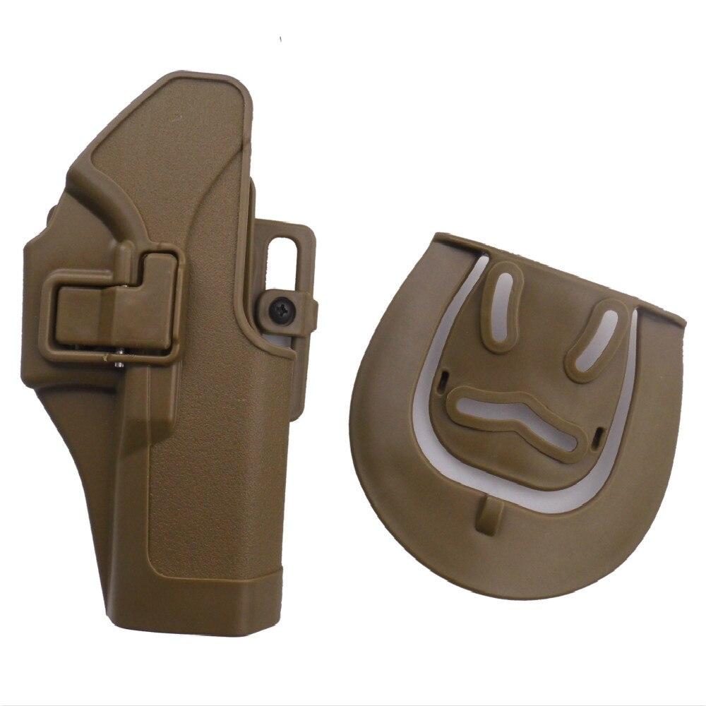 Nueva Marca FS CQC ejército holster LH RH airsoft cinturón holster Glock 17 G18 G23 CM030 tan color