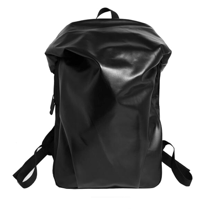 Korean Kpop Backpack Leather Men Women Fashion School Laptop Travel Backpacks Mochilas Sac A Dos Irregular pack