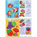 Pintura pintura papel de cuaderno de aprendizaje de aprendizaje y educación juguetes animal/friut colorear cuaderno de dibujo para niños libro de 10 páginas