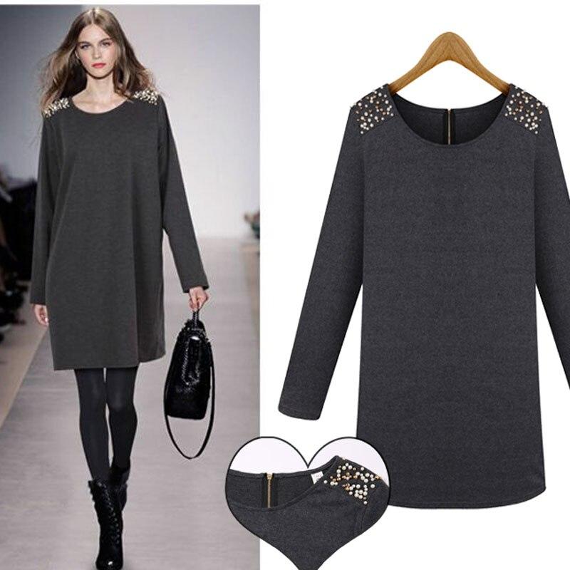 Vestidos femmes sweat robe à capuche automne femmes pulls Slim hanche longue veste à capuche décontractée robe grande taille 5XL DL1181