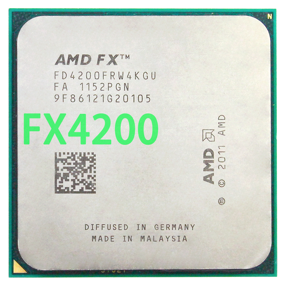 Amd fx 4200 am3 + 3.3 ghz/4 mb/125 w processador central quad core