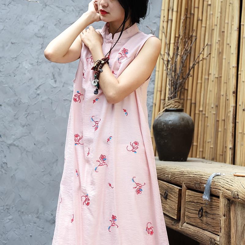2019 chinois traditionnel robe qipao femmes mandarin col chinois cheongsams qipao oriental robes broderie qipao