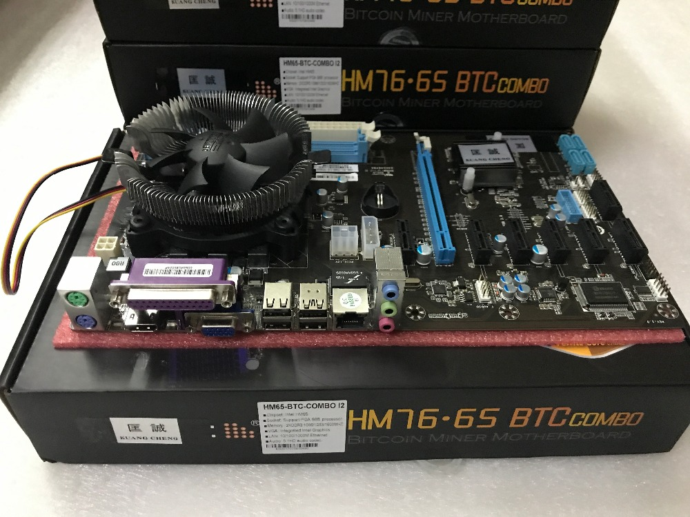 ETH Miners Mining Motherboard 8 Graphics Card Motherboard PGA988 Large Board HM7X BTC 8PCIE Multi