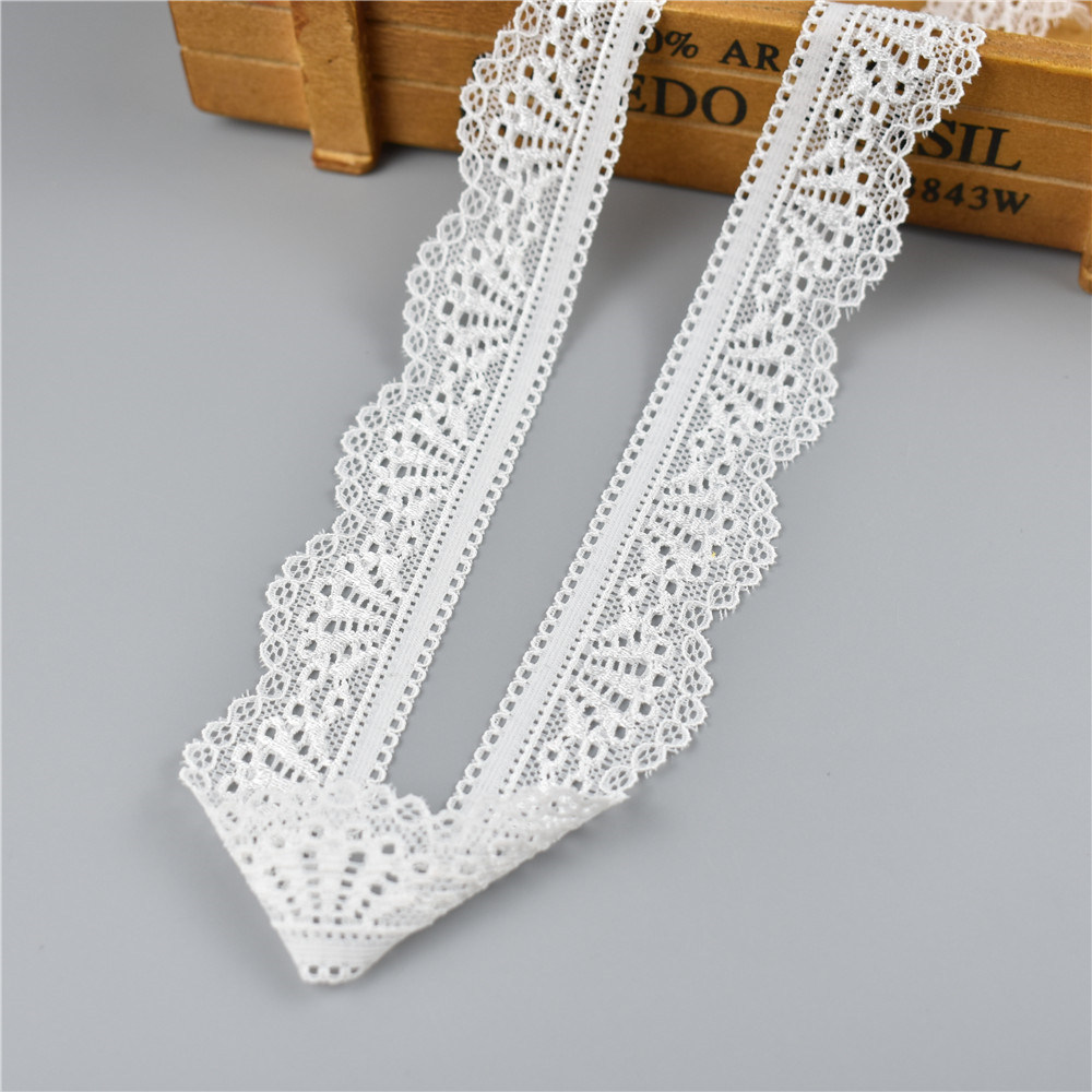 HTB1BfcjqgmTBuNjy1Xbq6yMrVXaq 5Yard/Lot High Quality White Elastic Lace Ribbon Trims Underwear Lace Trim Embroidered For Sewing Decoration african lace fabric
