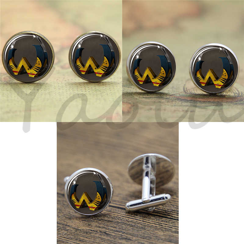 Superhero x-MEN Letter W X-men super power type hero Glass Photo Cabochon Necklace keyring bookmark cufflink earring