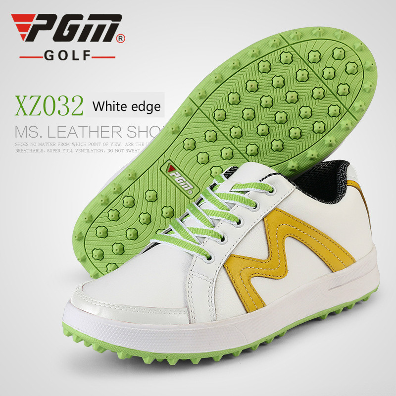 2018 summer new PGM patented design golf shoes women's shoes anti-side skid shoes waterproof breathable GOLF shoes Ultrafiber pgm new golf standard club tug ball bag environmental travel sport wheel package ultra light portable anti skid handle bag pu