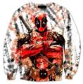 2016 мода мертвых дым Crewneck балахон отпечатано мужская 3d толстовка смешные одежды для женщин / мужчин дэдпул балахон продажа