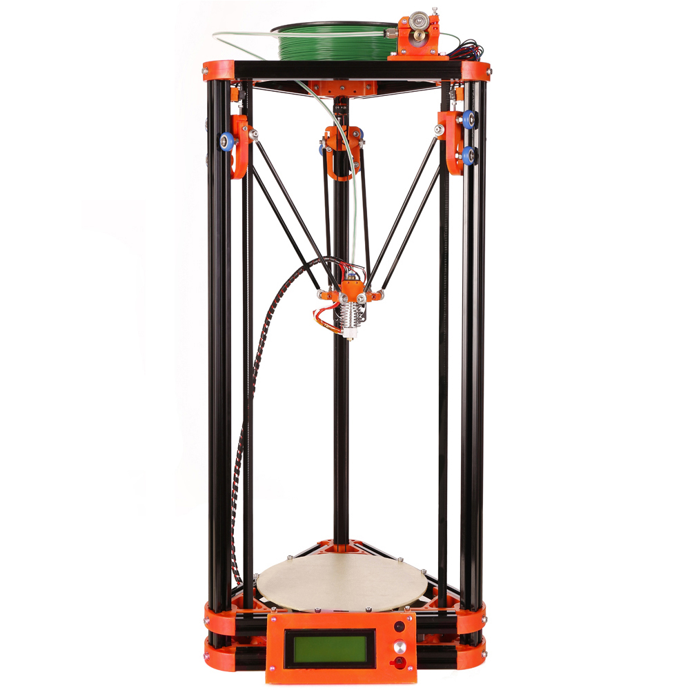 5 LCD display 3d printer machine diy delta 3 d printer auto leveling with 8GB SD card LCD 40m Filament for Free