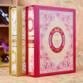 Retro Cover Interleaf Type Photo Album 4D 6 Inch 200 Boxes Photo Album Baby Growth Family Wedding Albums Frame Large Capacity