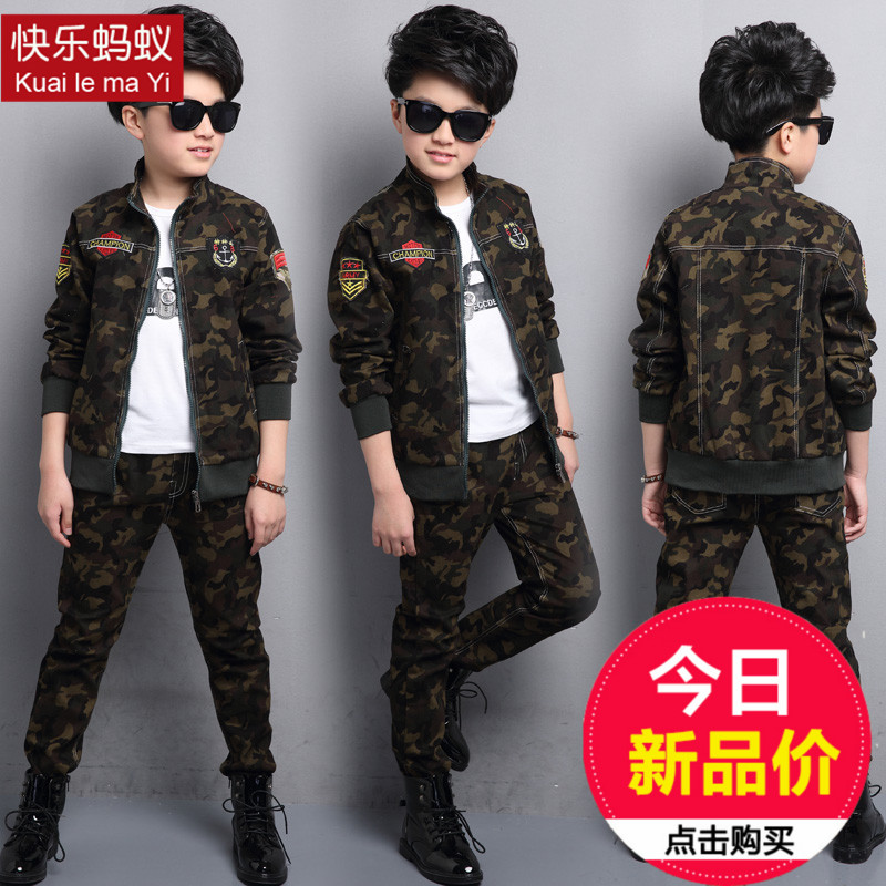 so good quality 2017 new summer boys Girls Kid Camouflage suit jacket + pants comfortable cute baby Clothes Children Clothing girls in pants third summer