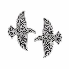 Viking Volare Raven Spille Bronzo Norse Crow Spilla Per Gli Uomini Vinatge Animale Spilli Button Badge Cappotto Del Maglione Del Collare Spille(China)