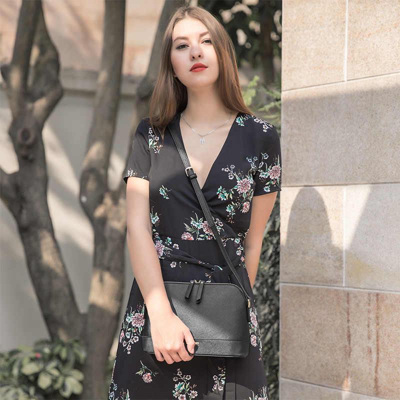 Женская сумка через плечо LOVEVOOK, модная не большая сумочка на плечо, классическая сумка в форме раковины, изготовлена из искусственной кожи, 2019