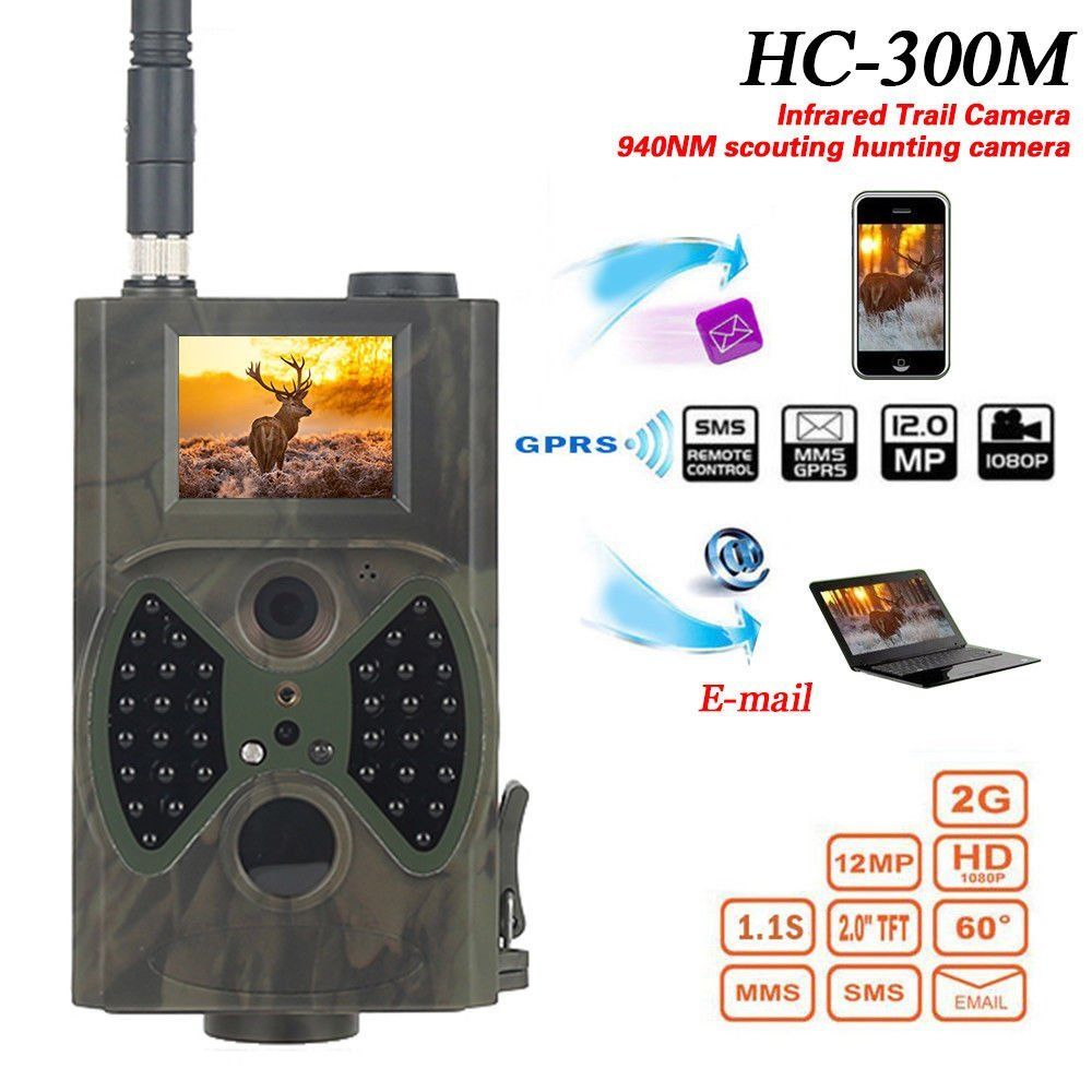HC 300M HD Hunting Trail Digital Animal Camera 940nm Scout Infrared 12MP GSM new