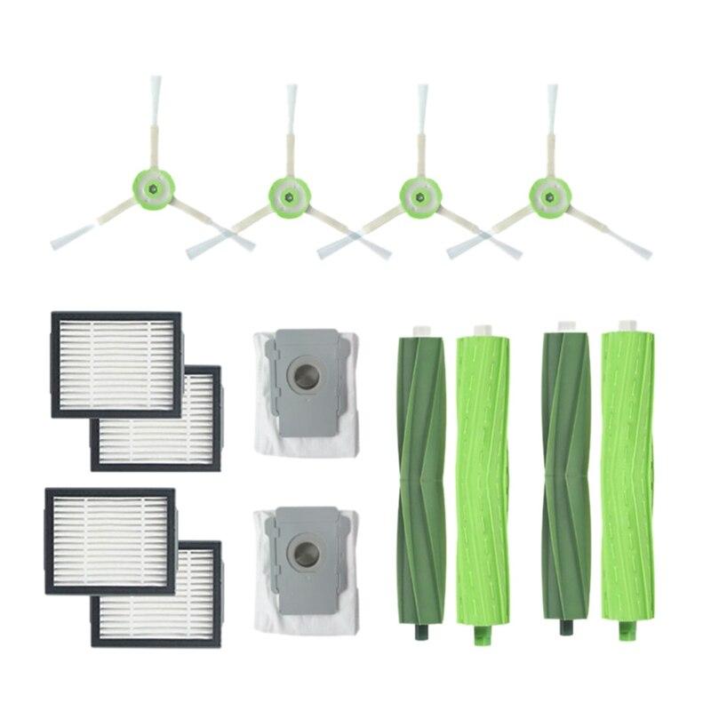 14Pcs/Lot Side Brush Filter Cleaner Dust Bags For Irobot Roomba I7 I7+/I7 Plus E5 E6 E7 Sweeper Robot Accessories Set14Pcs/Lot Side Brush Filter Cleaner Dust Bags For Irobot Roomba I7 I7+/I7 Plus E5 E6 E7 Sweeper Robot Accessories Set