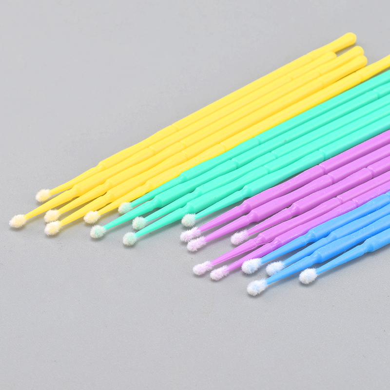 100Pcs/bag Disposable MicroBrush Eyelashes Extension Individual Lash Removing Swab Micro Brush For Eyelash Extension Tools