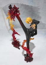 Anime One Piece Cute Diable Jambe Sanji 17CM Figuarts Zero Fighting Version PVC Action Figure Toy Collection Model Gift