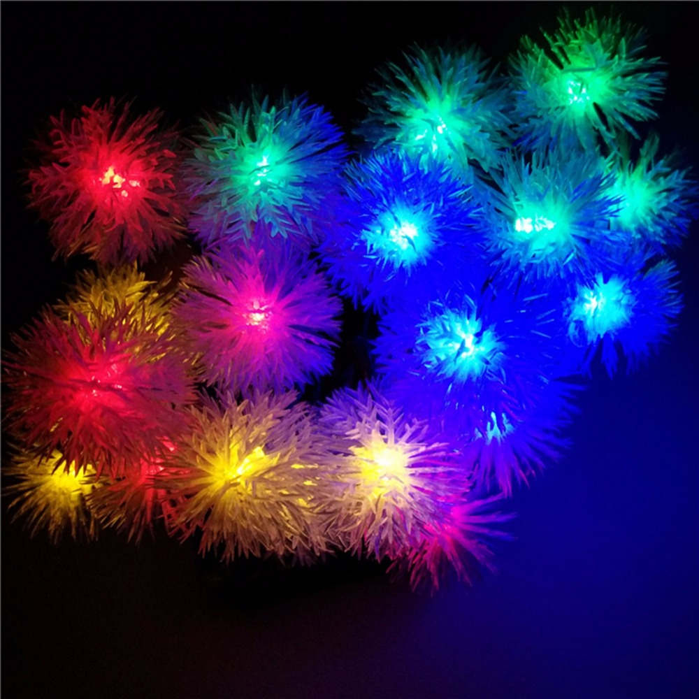 YIYANG 200 Snow Ball Pendant LED Solar Lamp String Lights 22M Decoration For Christmas Tree Party Outdoor Garden Patio Lantern 20 led bubble ball shaped christmas tree string lights decorated colored lamp