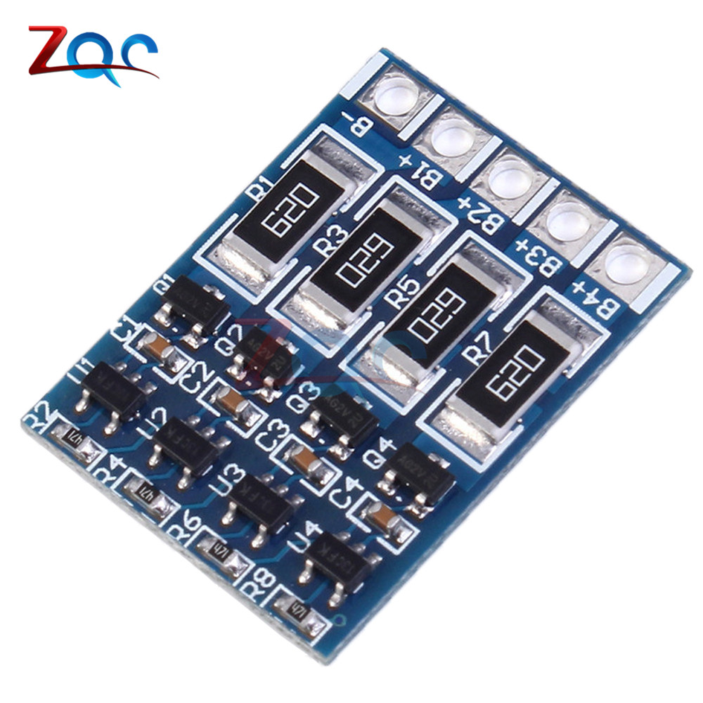4S 4.2V li-ion Balancer Board li-ion Balncing Full Charge 18650 Battery Balance Board Polymer Li-ion Lipo Charging ...