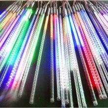 См 50 см длинные 5050 SMD 72 светодио дный LED s/трубки; RGB цвет Снег осень Метеор светодио дный светодиодные трубки; мм 12 мм диаметр; 10 шт./компл.; AC90-260V вход
