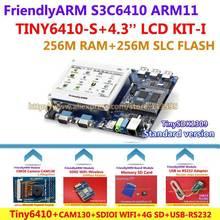 FriendlyARM Development Board ARM Kit -I TINY6410 + 4.3 inch LCD + WIFI + CMOS Camera + 4G SD Card + USB – RS232 , S3C6410 ARM11