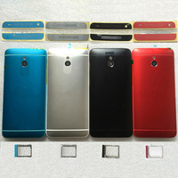 Aluminum Housing Battery Door Back Cover Case With Top Bottom Slat Sim Card Tray Side Buttons
