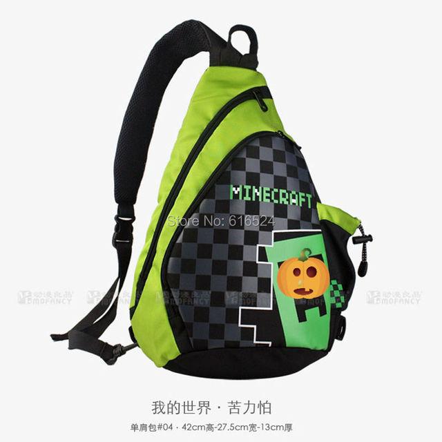 2016 HOT Alta Qualidade MC trepadeira Minecraft backpack toy modelo de mercadoria saco de ombro único JOGO acessório Melhores Presentes de Aniversário
