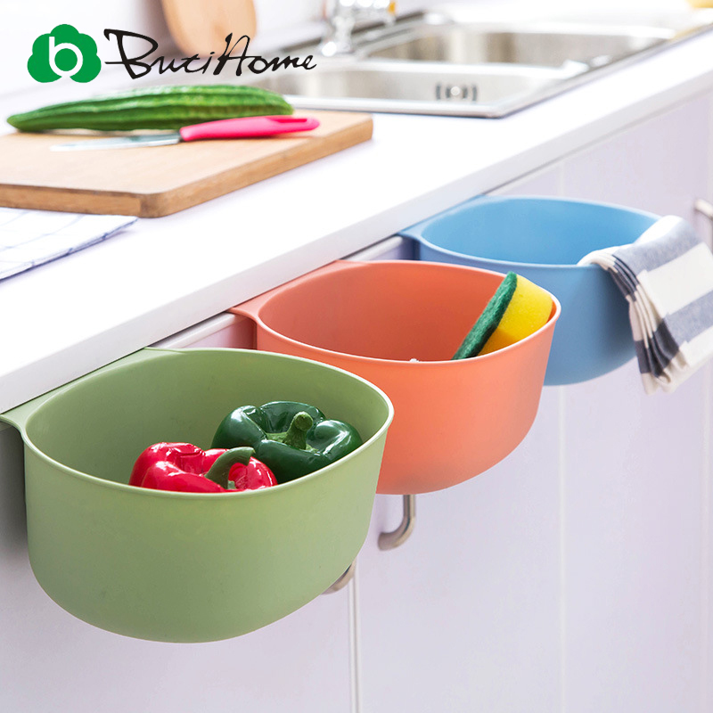 Butihome Storage Box Kitchen Hanging Large Trash Cans Livingroom Household No Cover Plastic Garbage Basket Bathroom Storage Box