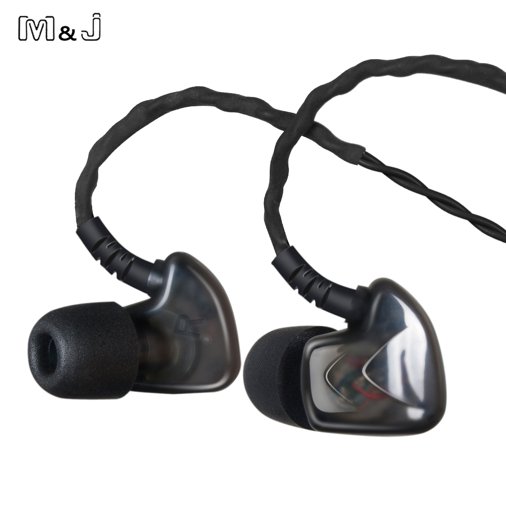 M&J S50 Heavy Metal Earphones DJ Headset For Mobile Phone With Mic Auriculares In Ear Monitors Professional Fone De Ouvido