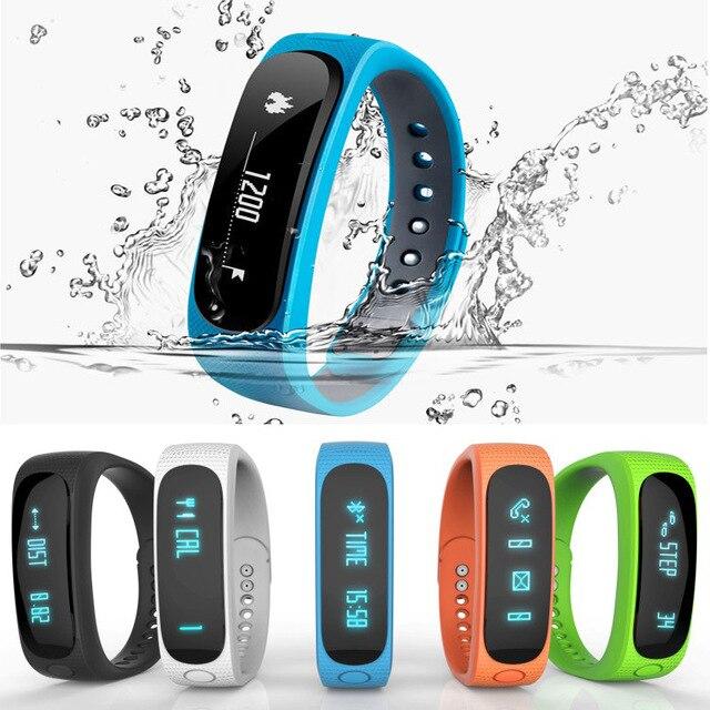 Waterproof Smart bracelet E02 Bluetooth Smartbands Sports Wristbands Band for apple iPhone 6 5S 5 Samsung