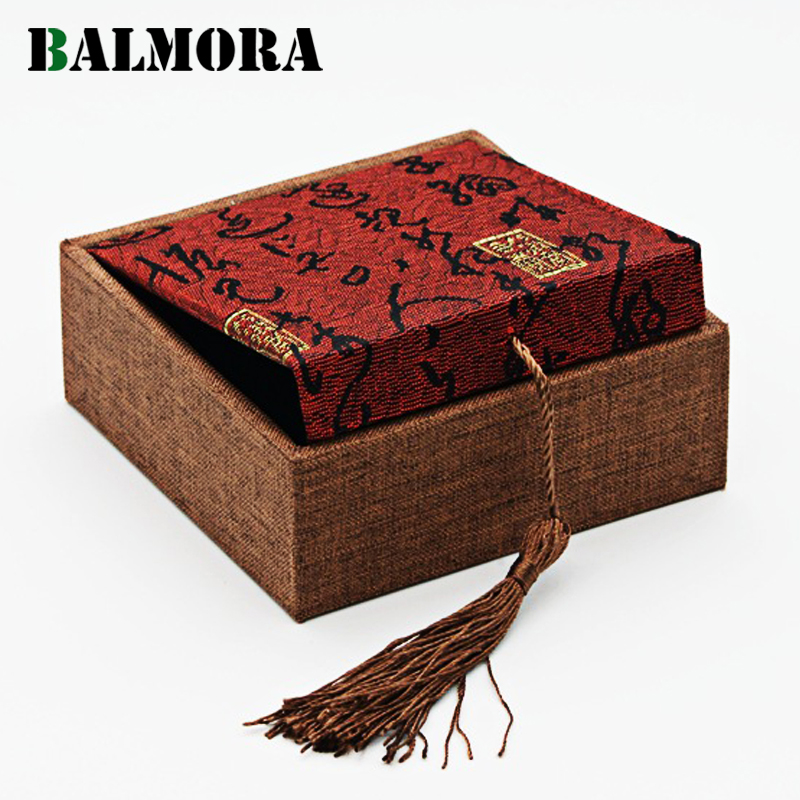 BALMORA 1 Piece Jewelry Packaging Gift Boxes For Ring Earrings Pendant Bracelet Bangle Necklace Tassel Box High Quality WBH0115