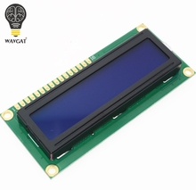 Free Shipping 10PCS LCD1602 1602 module Blue screen 16×2 Character LCD Display Module HD44780 Controller blue blacklight