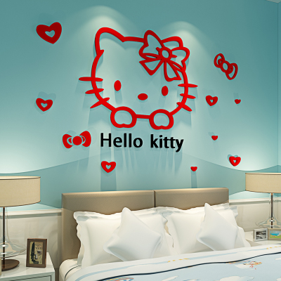 hello kitty 3d wall sticker wedding decoration warm living room