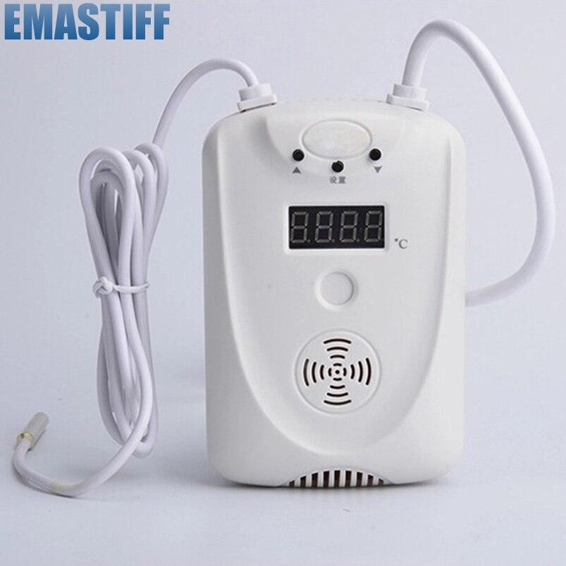 LED Дисплей Провода Температура Регулируемый детектор сигнализации Сенсор с реле Выход N. o/N. c, для GSM сигнализация