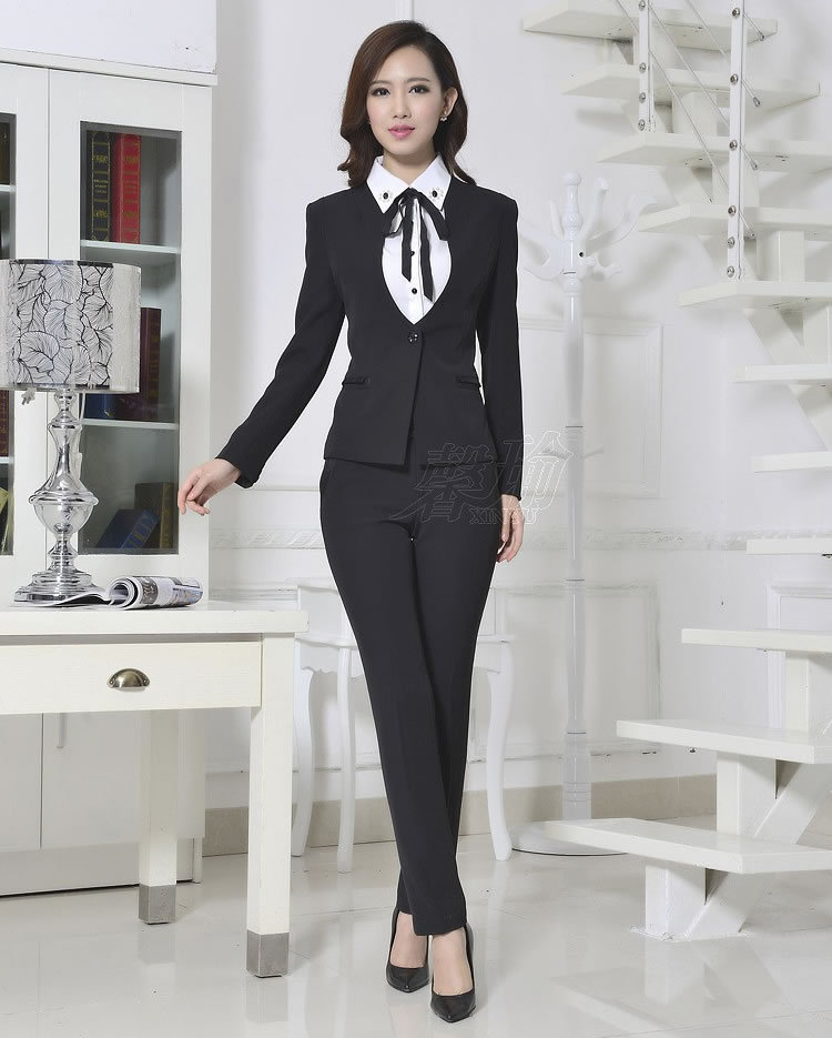 2016 New Arrival Autumn And Winter Occupation Suits Ol Office Lady Formal Interview Slim Pants Suit Wholesales formal wear