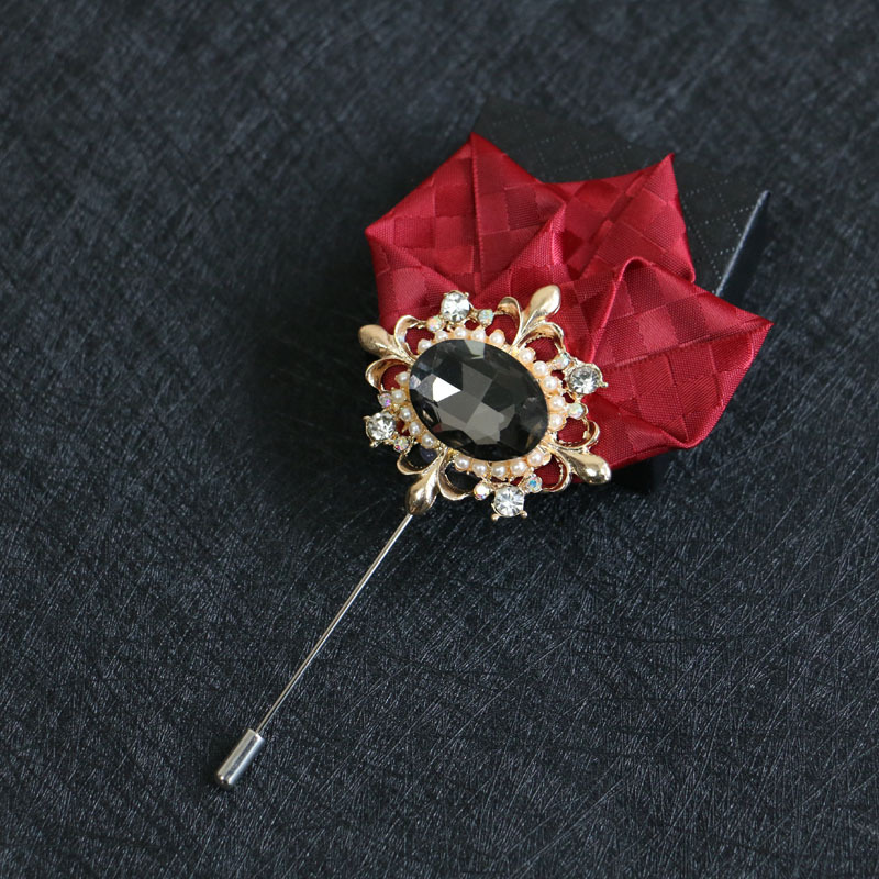 Mdiger Brooch for Men Women Flower Brooch Banquet Brooche Wedding Accessories Show Party Corsage Brooches Pin